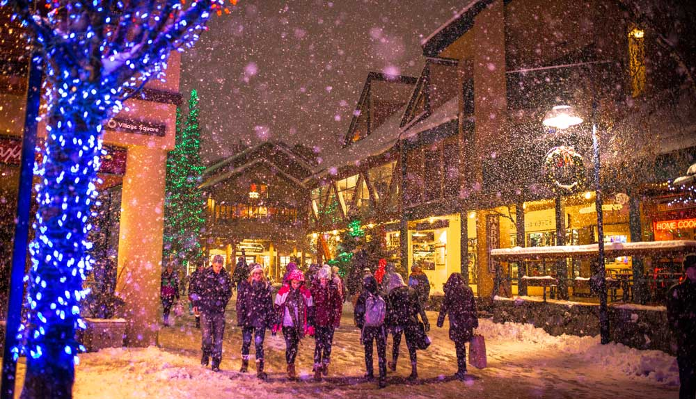 whistler catches early winter storms from the pacific piling up snow for holiday skiers