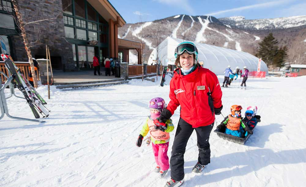 With a top-rated ski school, Stowe can easily handle the whole family.