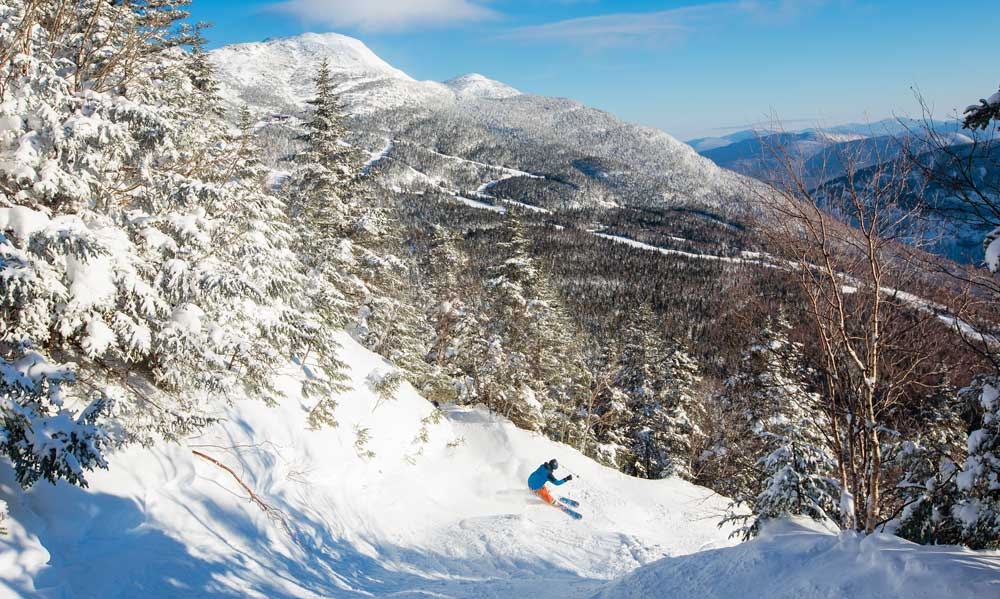 Stowe skiers can find as much terrain as they want to ski.