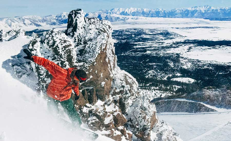 Mammoth's elevation and its aspects make it one of the best places in California for snow.