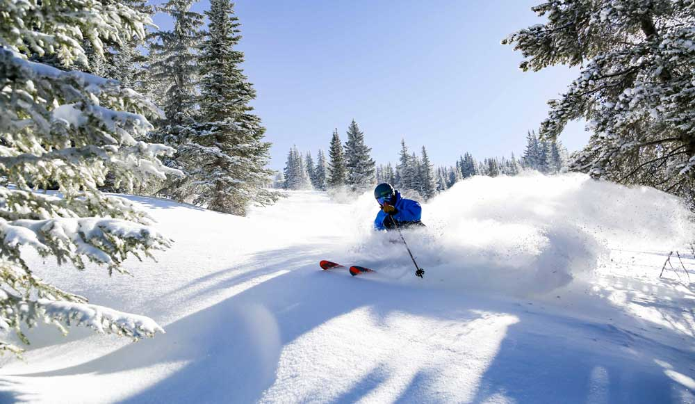 Vail ranks highly for snow in Colorado.